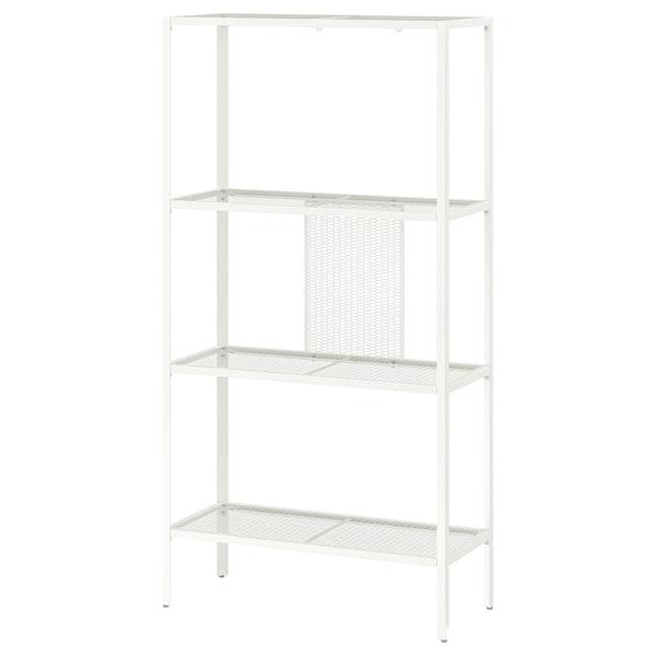 BAGGEBO Estante, metal/branco, 60x25x116 cm