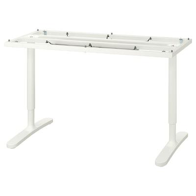 BEKANT Estrutura inferior p/tampo, branco, 140x60 cm