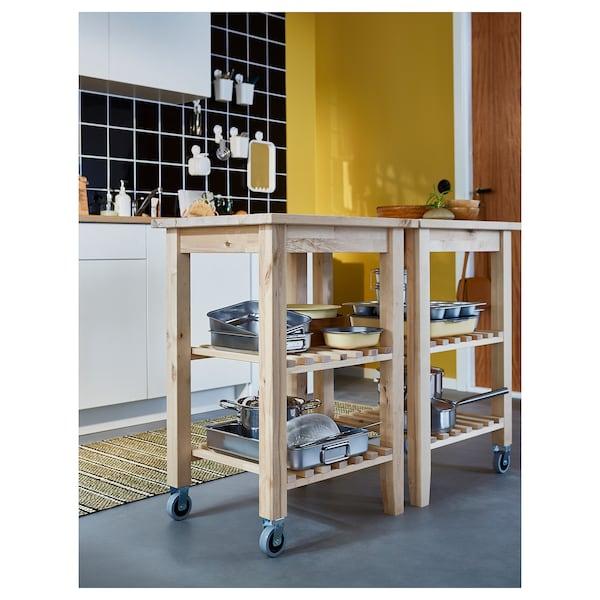 BEKVÄM Carrinho de cozinha, bétula, 58x50 cm