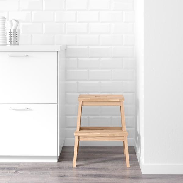 BEKVÄM Escadote com 2 degraus, faia, 50 cm