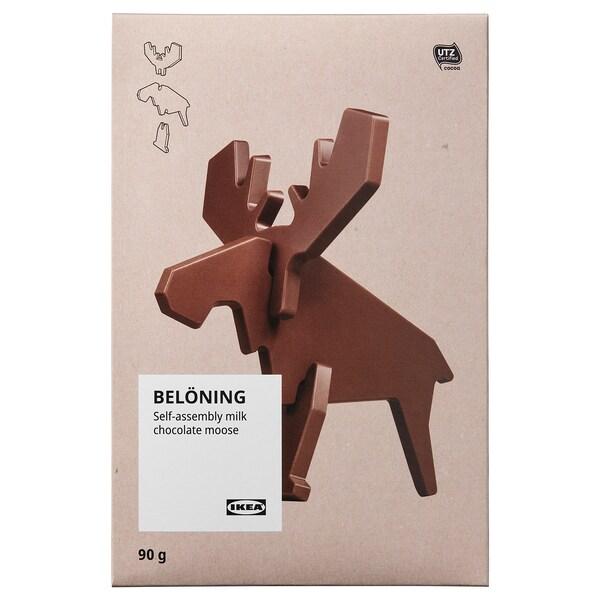 BELÖNING Alce chocolate de leite, p/montar Certificado UTZ, 90 gr