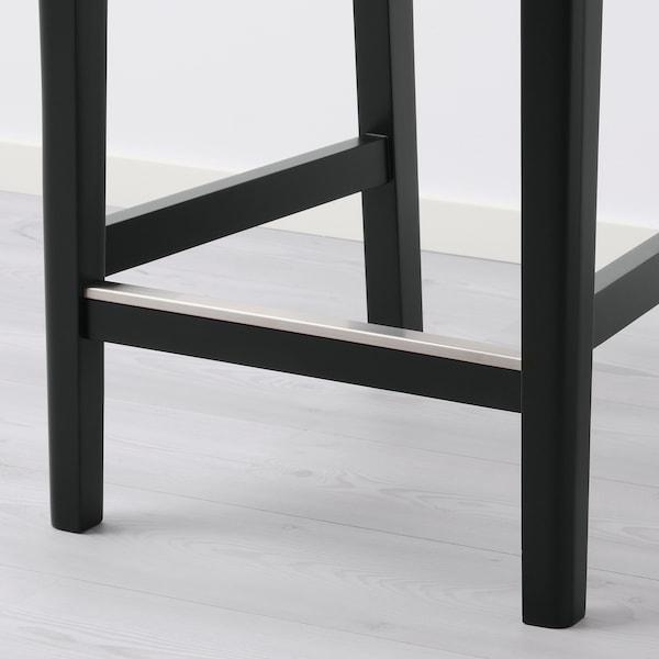 BERGMUND Banco alto c/encosto, preto/Glose preto, 62 cm