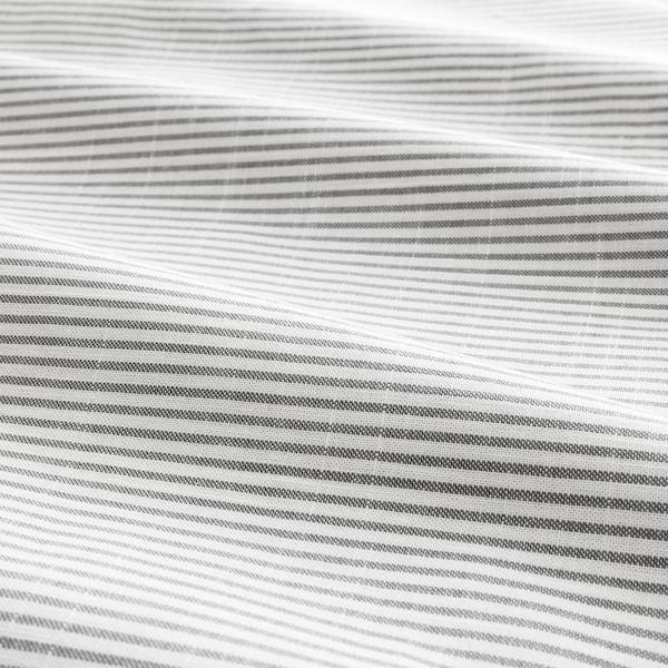 BERGPALM Capa de edredão+2 fronhas, cinz/às riscas, 240x220/50x60 cm