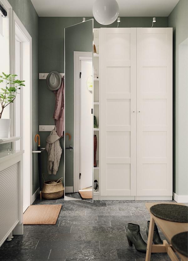 BERGSBO Porta c/dobradiças, branco, 50x229 cm