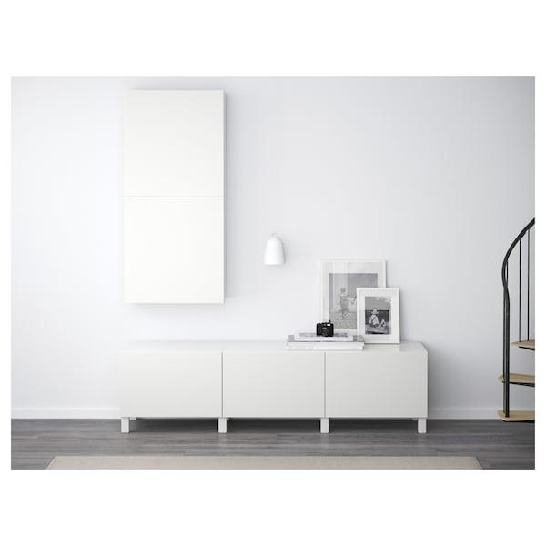 BESTÅ Armário parede c/2portas, Lappviken branco, 60x22x128 cm