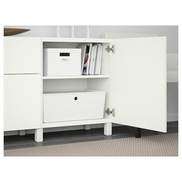 BESTÅ Comb arrumação c/gavetas, branco/Lappviken/Stubbarp branco, 180x42x74 cm