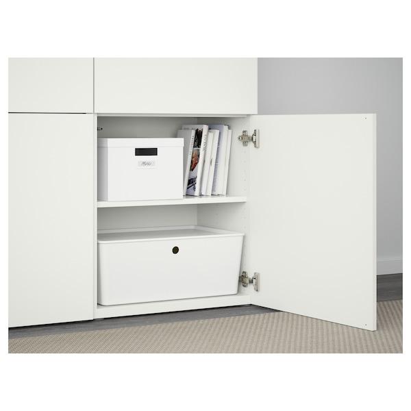 BESTÅ Comb arrumação c/portas, branco/Lappviken branco, 120x42x193 cm