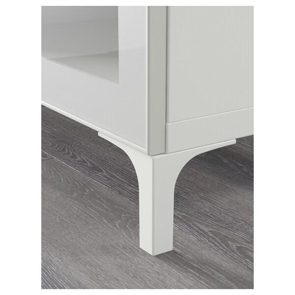 BESTÅ Móvel TV, branco/Selsviken/Nannarp vidro inc branco/brilhante, 180x42x48 cm