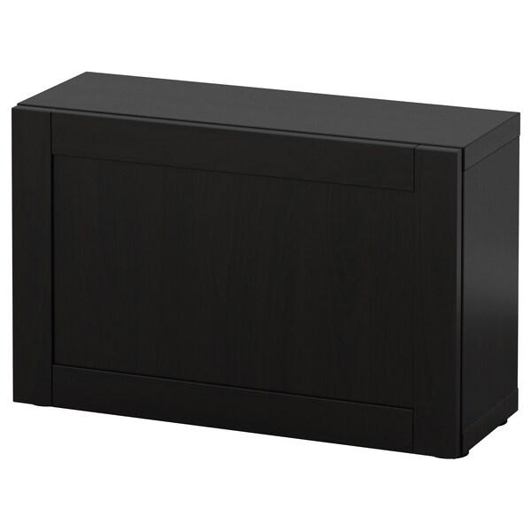 BESTÅ estante c/porta Hanviken preto-castanho 60 cm 20 cm 38 cm
