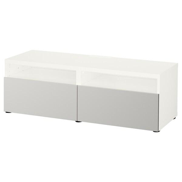BESTÅ móvel de TV c/gavetas branco/Lappviken cinz clr 120 cm 42 cm 39 cm 50 kg