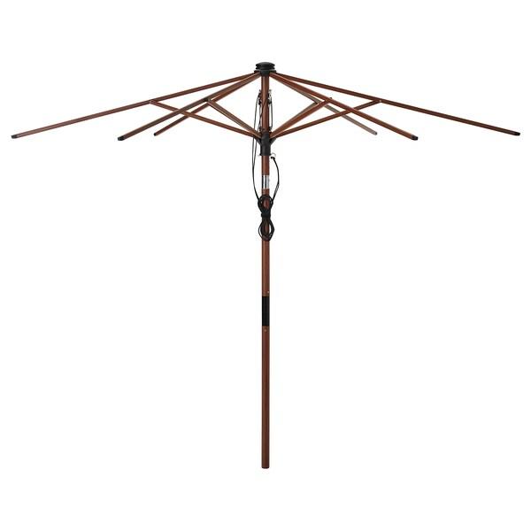 BETSÖ Estrutura guarda-sol, inclinável/castanho efeito madeira, 300 cm