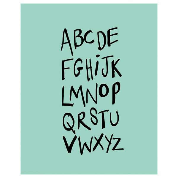BILD Póster, Alfabeto, 40x50 cm