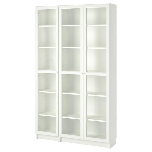 BILLY / OXBERG estante c/portas de vidro branco 120 cm 30 cm 202 cm 30 kg