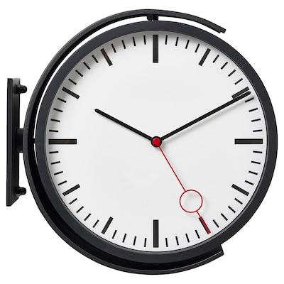 BISSING Relógio de parede, preto, 28 cm