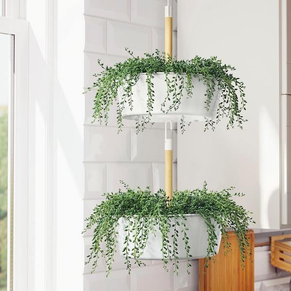 BITTERGURKA floreira suspensa branco 37 cm 29 cm