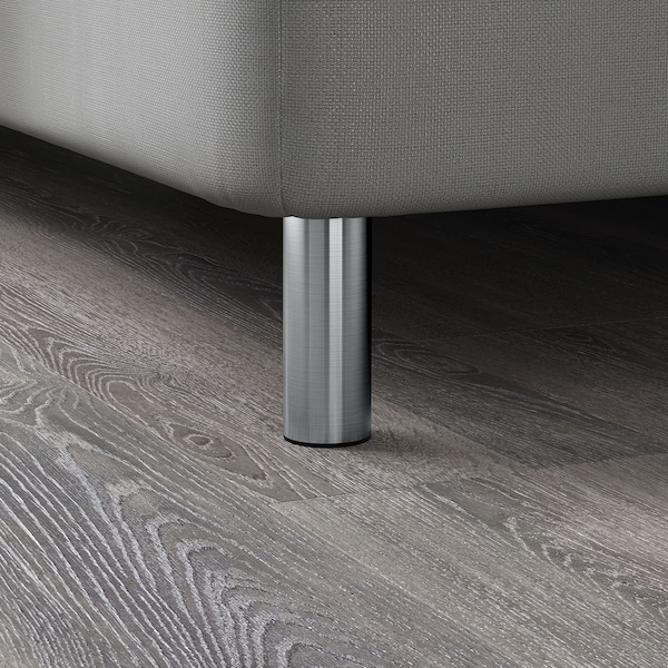 BJORLI Pé, aço inoxidável, 10 cm