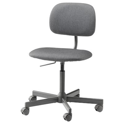 BLECKBERGET Cadeira giratória, Idekulla cinz esc