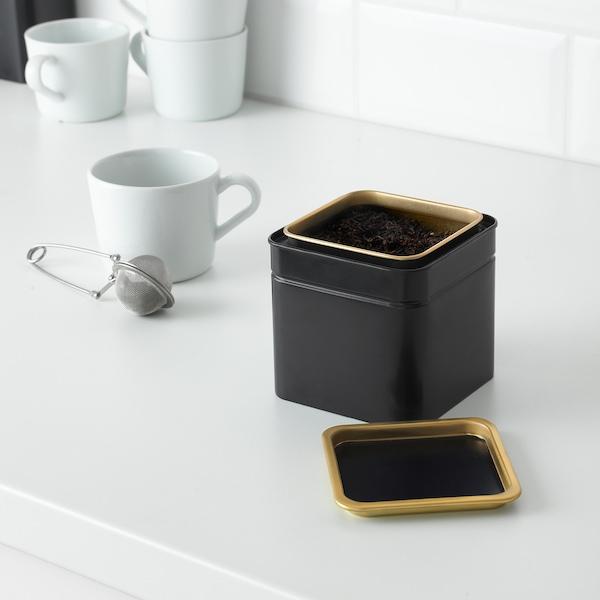 BLOMNING Lata p/café/chá, 10x10x10 cm