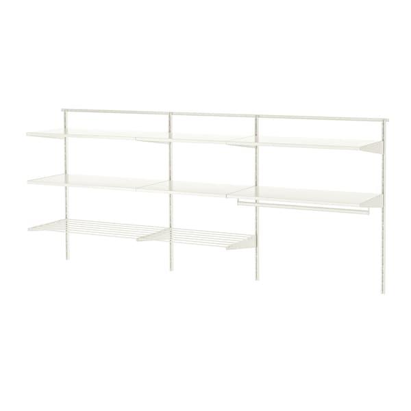 BOAXEL Combinação p/lavandaria, branco/metal, 227x40x101 cm