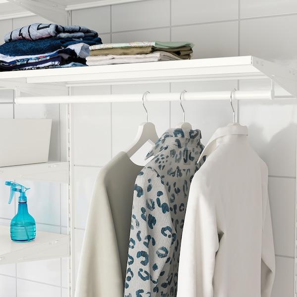 BOAXEL Combinação p/lavandaria, branco/metal, 165x40x201 cm