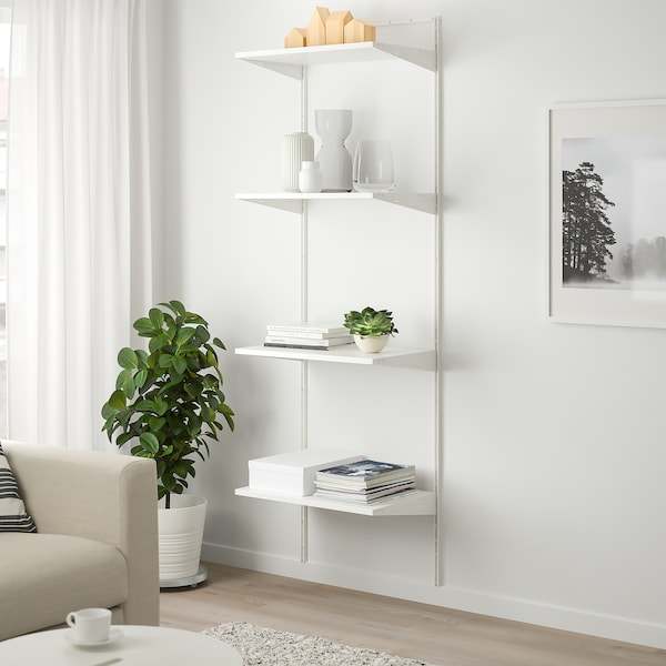 BOAXEL Estante, branco, 62x40x201 cm