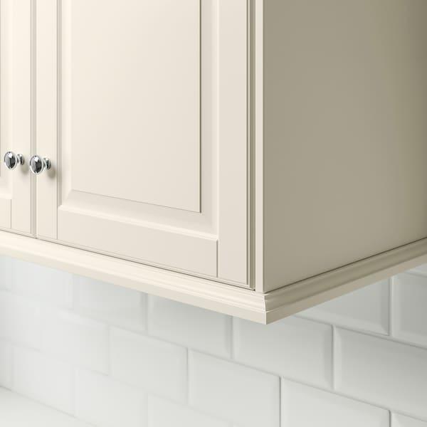 BODBYN Moldura torneada, branco-bege, 221x6 cm