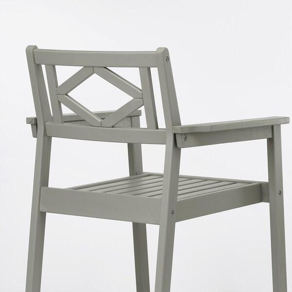 BONDHOLMEN Cadeira c/braços, exterior, cinz