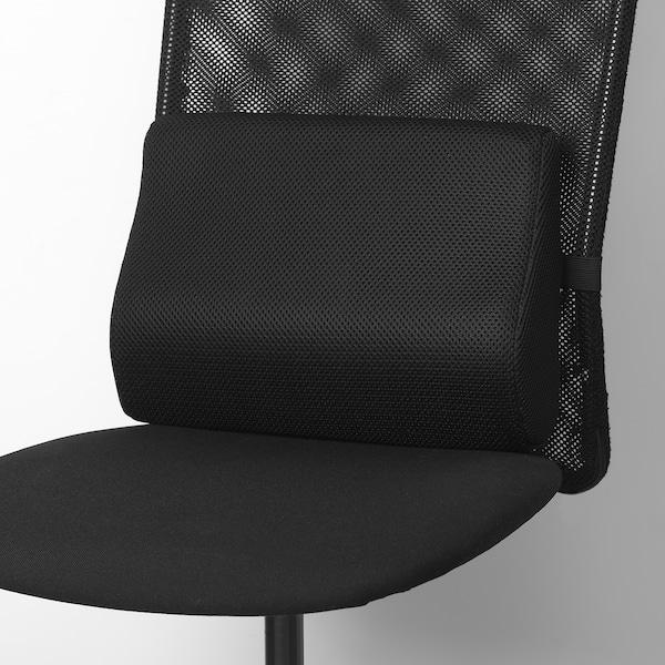 BORTBERG Almofada lombar, preto, 31x23 cm