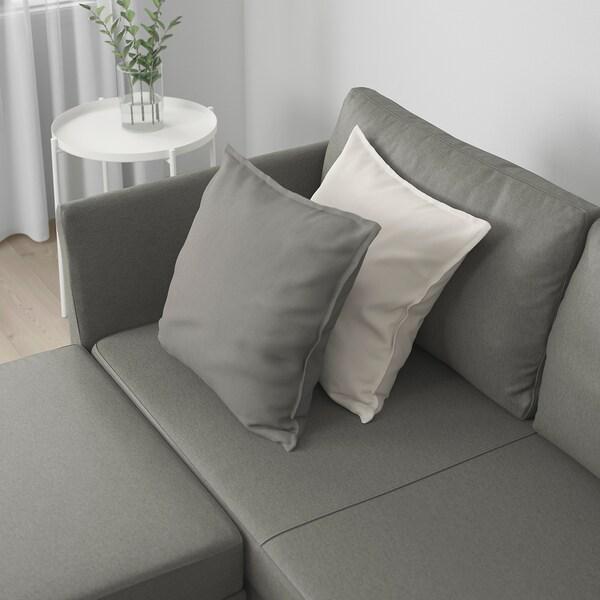 BRÅTHULT Sofá-cama de canto, Borred verde acinzentado