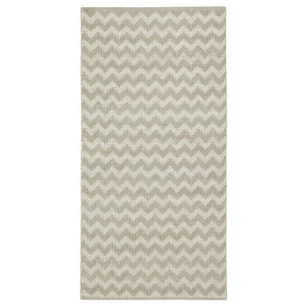 BREDEVAD tapete, tecelagem plana padrão em ziguezague bege 150 cm 75 cm 1.13 m²