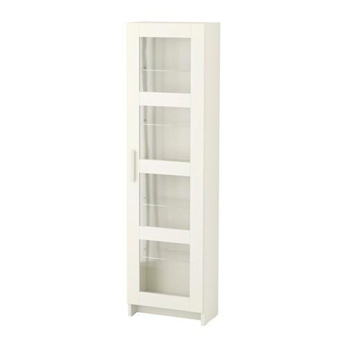 BRIMNES Armário alto c/porta de vidro - branco - IKEA