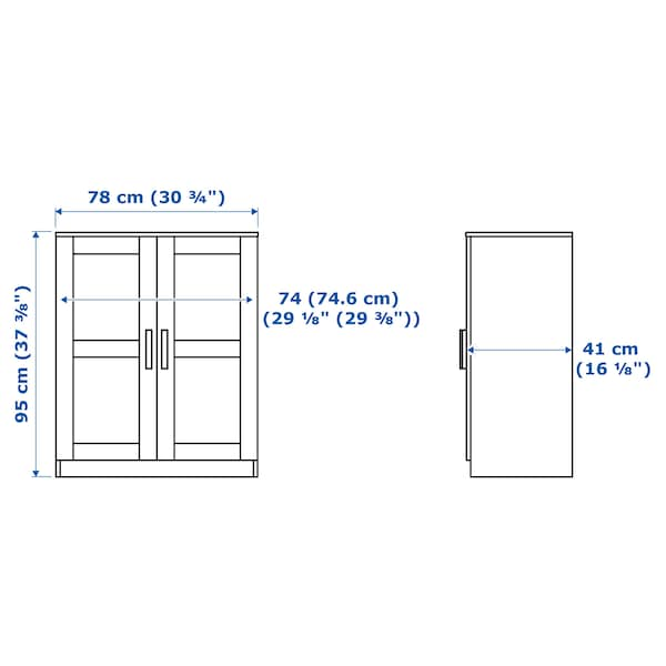 BRIMNES Armário c/portas, preto, 78x95 cm