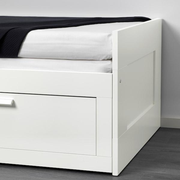 BRIMNES cama indiv/dupla c/2 gav branco 21 cm 205 cm 86 cm 57 cm 87 cm 53 cm 160 cm 205 cm 20 kg 200 cm 80 cm