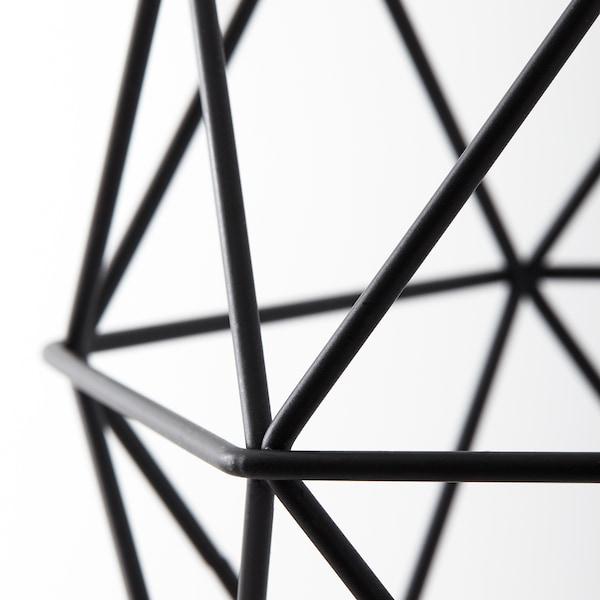 BRUNSTA Abajur p/candeeiro suspenso, preto, 20 cm