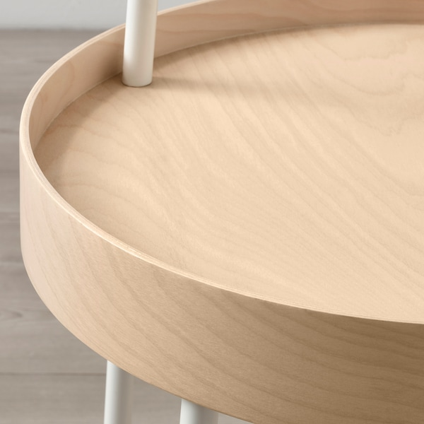 BURVIK Mesa de apoio, branco, 38 cm