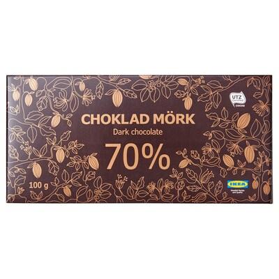 CHOKLAD MÖRK 70% Chocolate preto 70%, Certificado UTZ