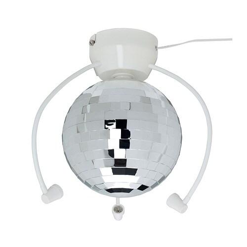DANSA Bola espelhos c/iluminação LED IKEA Ilumina o quarto dos seus filhos e transforma-o numa discoteca, para festas divertidas num ambiente único.