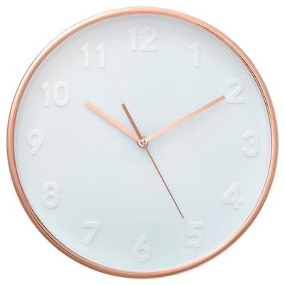 DILLADE Relógio de parede, cor de cobre, 35 cm