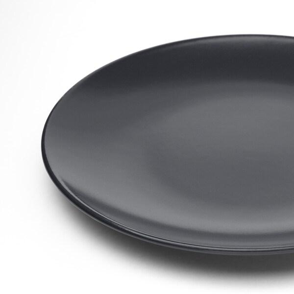 DINERA Prato de sobremesa, cinz esc, 20 cm