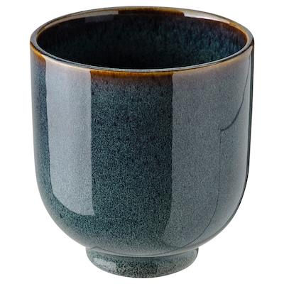 DRÖMSK Vaso, interior/exterior azul escuro, 9 cm