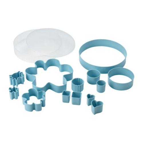 DRÖMMAR Caixa formas corta-massa, 14ud IKEA Diversos tamanhos e formatos para tudo, desde decorações em maçapão até ao corte de bolachas.