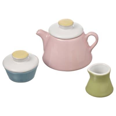 DUKTIG Conj. brincar chá, 3pçs, várias cores