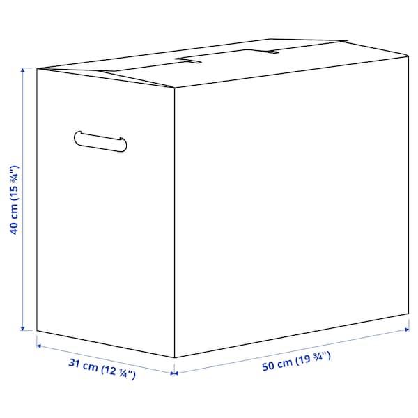 DUNDERGUBBE Caixa p/embalar, castanho, 50x31x40 cm