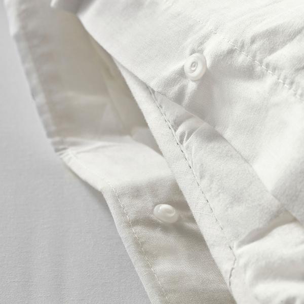 DVALA Capa de edredão e 2 fronhas, branco, 240x220/50x60 cm