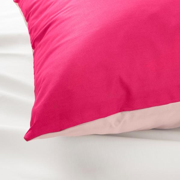 DVALA capa de edredão e 2 fronhas rosa 152 Polegada² 2 unidades 220 cm 240 cm 50 cm 60 cm