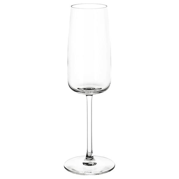 DYRGRIP Copo de champanhe, vidro transparente, 25 cl