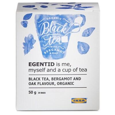 EGENTID Chá preto, bergamota/carvalho/certificação UTZ/biológico, 50 gr