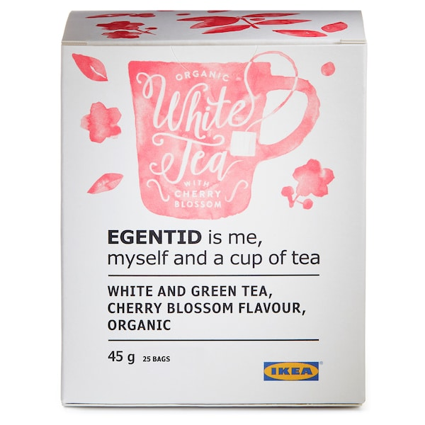 EGENTID chá branco flor de cerejeira/certificação UTZ/biológico 45 gr