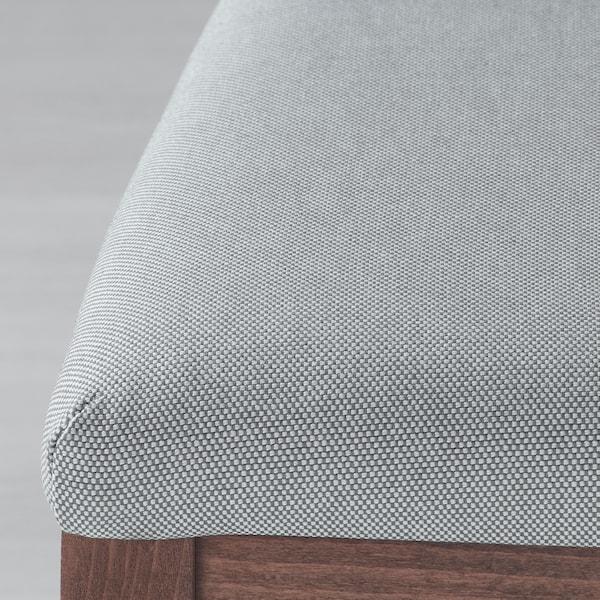 EKEDALEN / EKEDALEN Mesa e 6 cadeiras, castanho/Orrsta cinz clr, 180/240 cm