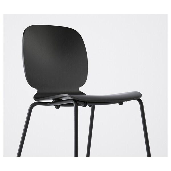 EKEDALEN / SVENBERTIL Mesa e 4 cadeiras, carvalho/preto, 120/180 cm